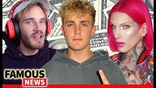 Forbes Highest Paid YouTube Stars 2018 PewDiePie, Jeffree Star, Jake Paul  & more | Famous News