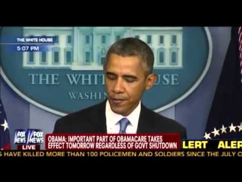 Shutdown - September 30, 2013 - During remarks from the Brady Press Briefing Room Monday afternoon, President Obama warned Americans against the negative effects of a g...