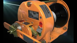 Steel Hot Dip Galvanizing Rotating Hand Winches: Model GM-30-GS-SI (3,000kgf) youtube video