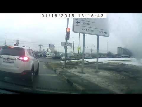 Я свидетель  ДТП, Москва и МО 18.01.2015 (Запись видеорегистратора)