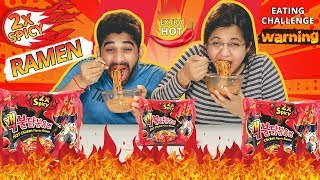 KOREAN NUCLEAR FIRE NOODLE CHALLENGE | 2X Extreme Spicy Ramen Eating Challenge | Food Challenge