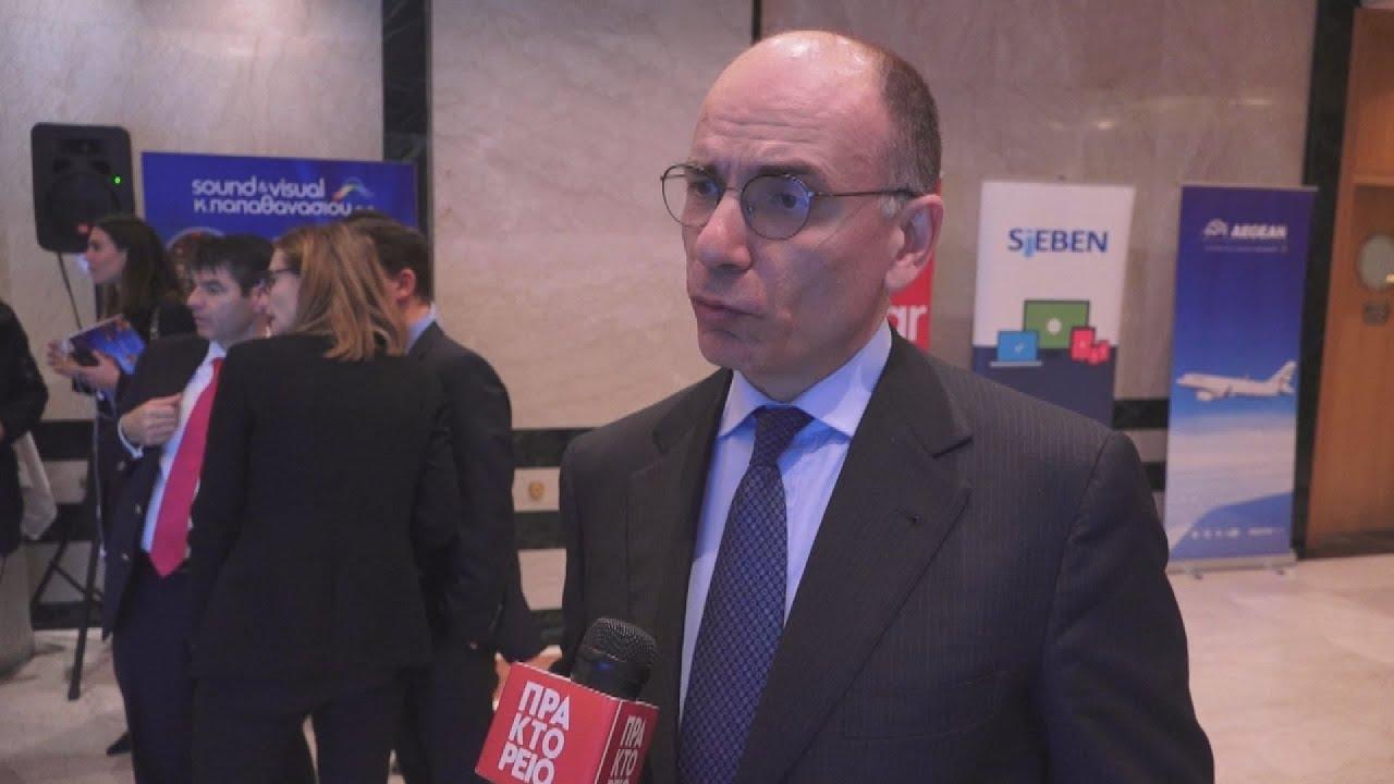 Συνέντευξη του Ενρίκο Λέτα στη κάμερα του ΑΠΕ-ΜΠΕ