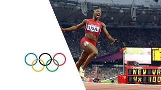 Video USA Break Women's 4 x 100m Relay World Record - London 2012 Olympics MP3, 3GP, MP4, WEBM, AVI, FLV April 2019