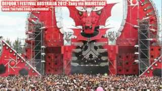 DEFQON.1 2012 Sydney Australia: DJ Zany At Mainstage (RED)