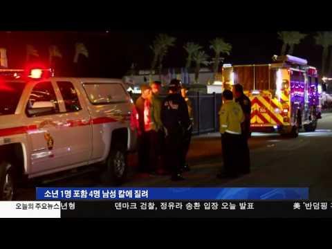 축제장에서 4명 피습 2.20.17 KBS America News