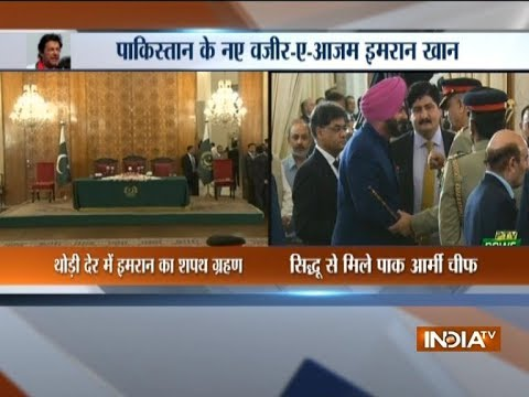 Navjot Singh Sidhu meets Pak Army Chief at Imran Khan's oath-taking ceremony