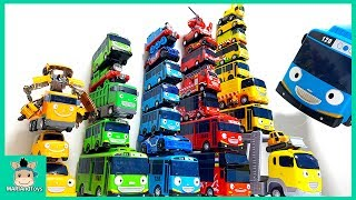 Video Tayo be careful! Tayo Bus in Real Life. Tayo bus rainbow tower falls  learn colors | MariAndToys MP3, 3GP, MP4, WEBM, AVI, FLV Juni 2018