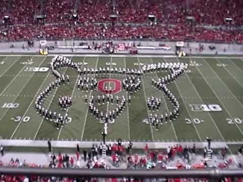marching - You have to see this halftime performance of The Ohio State University Marching Band on 10/6/12 against Nebraska. The theme was Video games and it included p...