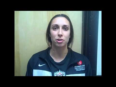 Art U volleyball interviews with Ed Jackson & Brittany Ulmer - Oct 6 2012
