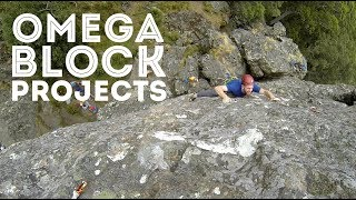 Project routes at the Omega Block by Jackson Climbs