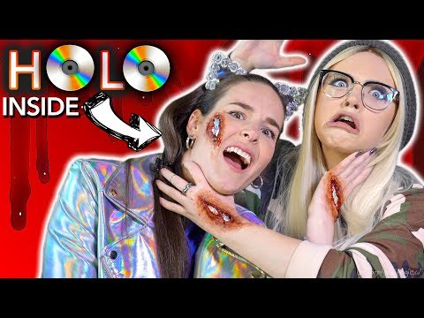 I'M HOLO INSIDE! Holographic scar makeup ft. Glam&Gore (видео)
