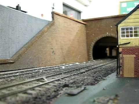 Hornby Virgin Trains Pendolino on a Model Railway.