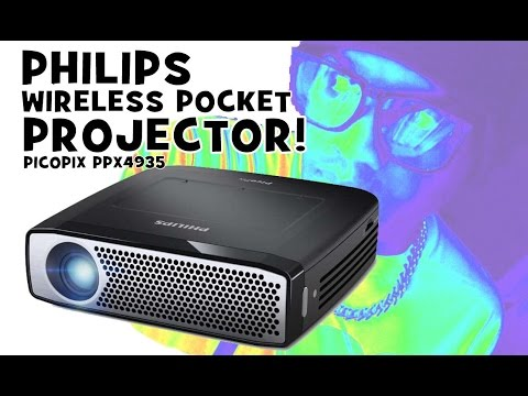PHILIPS PICOPIX PPX 4935 Review / Wireless Pocket Rechargeable Projector / English