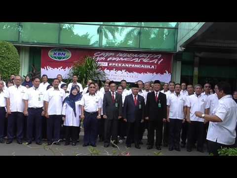 Karyawan PT KBN (Persero) Menyanyikan Lagu Garuda Pancasila #PekanPancasila