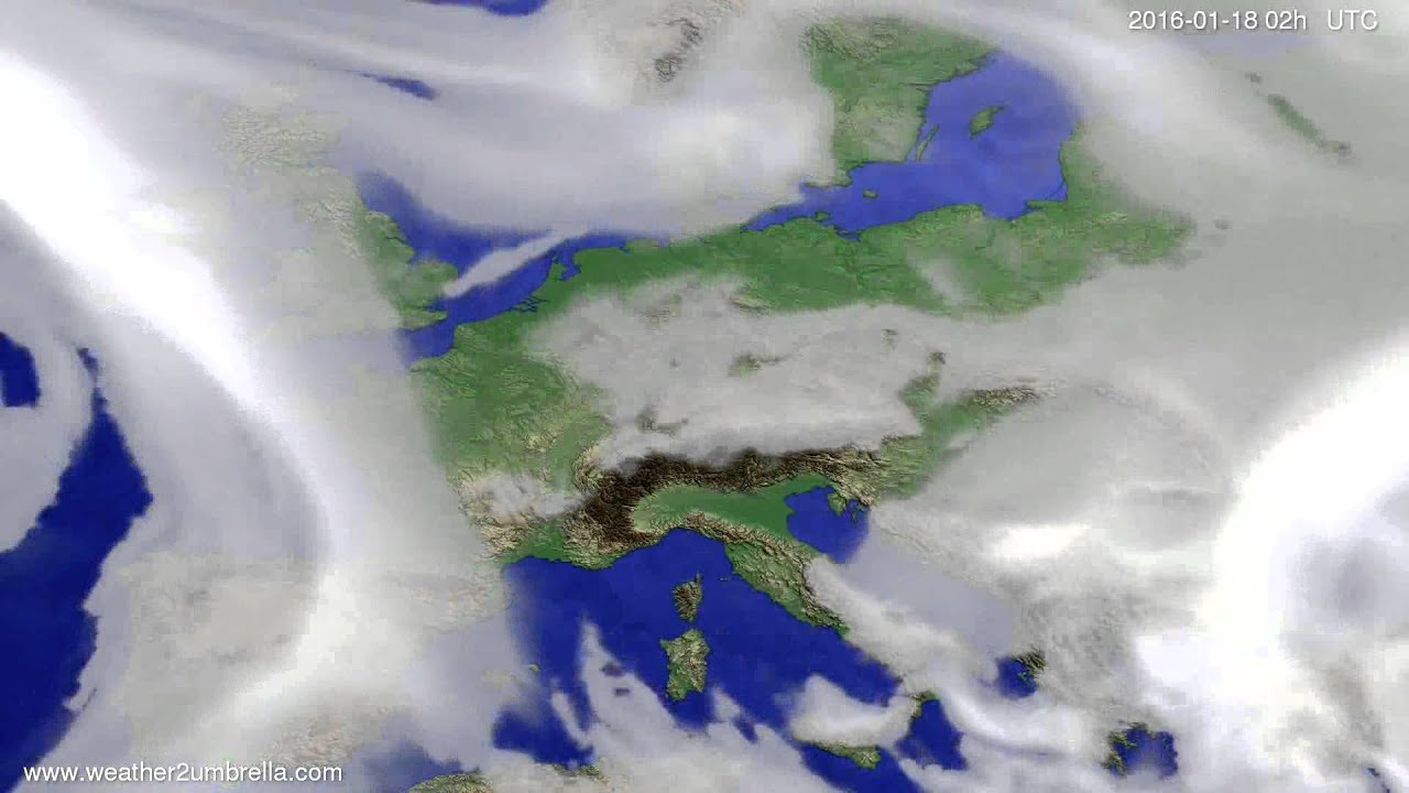 Cloud forecast Europe 2016-01-14
