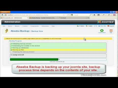 Tutorial Joomla: Akeeba Backup - Hướng dẫn backup dữ liệu
