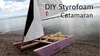How to make a catamaran sailboat out of styrofoam. This video shows the process of building the boat from start to finish and includes a material lists, diagrams, and schematics of the boat.The boat took 2 full days to build and one to test and it costed around $200 which is comparable to $2000 which is the price in storesHackbeat by Kevin MacLeod is licensed under a Creative Commons Attribution license (https://creativecommons.org/licenses/by/4.0/)Source: http://incompetech.com/music/royalty-free/index.html?isrc=USUAN1100805Artist: http://incompetech.com/