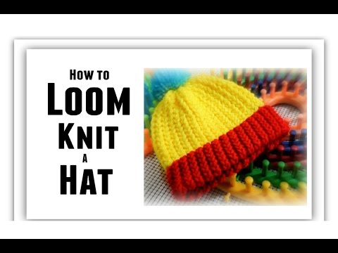 How To Loom Knit A Hat Vertical Striped Hat Youtube Downloader