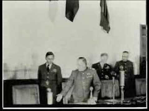Deutschland kapituliert in Berlin-Karlshorst - der Zw ...