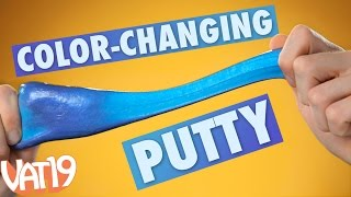 Warm up to Heat-Sensitive Hypercolor Putty, a Thinking Putty that changes hues using just your body heat. Buy here: ...