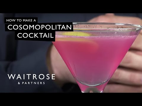 cosmopolitan - http://bit.ly/oK3Occ - Have a look at our summer cocktails, today's favourite, the cosmopolitan. This video shows you how to make one, thanks to mixologist, ...