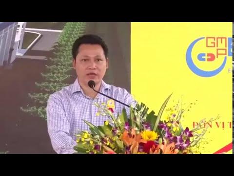 Lãnh đạo GMPc phát biểu tại lễ khởi công xây dựng Nhà máy sản xuất Mỹ phẩm Đăng Dương