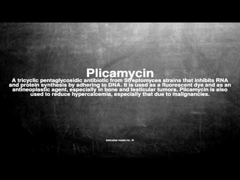 Medical vocabulary: What does Plicamycin mean