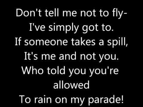 , title : 'Don't Rain On My Parade Lyrics'