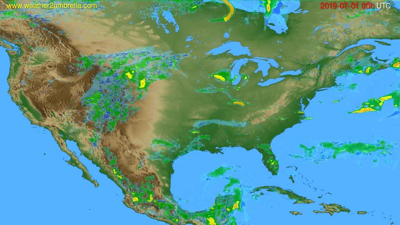Radar forecast USA & Canada // modelrun: 12h UTC 2019-06-30