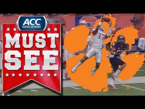 Bashaud Breeland intercepts pass vs Syracuse 2013 video.