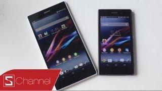 Schannel - Xperia Z1 vs Xperia Z Ultra: So sánh màn hình, thiết kế .... - CellphoneS