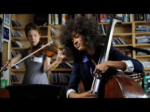 tiny desk concert - The bassist and vocalist Esperanza Spalding conceived of Chamber Music Society as an intimate experience, a close musical exchange between a small group of f...