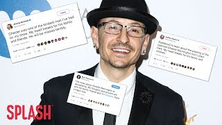 Celebrities are sharing their thoughts and prayers to Chester Bennington and his family after the Linkin Park front man has ...