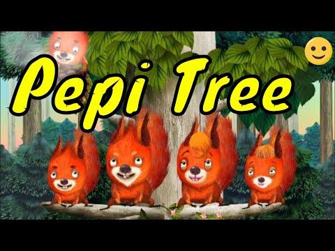Белки, сова, паучок, гусеницы, ежик и крот в игре про животных для детей Pepi Tree от Pepi Play
