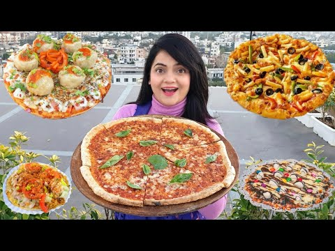 Living on PIZZA for 24 HOURS Challenge | Food Challenge