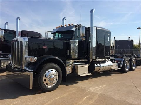 2015 389 Peterbilt Flat Top Metallic Black 23 Gauges 550hp 18 speed hard loaded owner operator