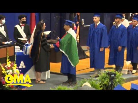 High school graduate denied his diploma   GMA