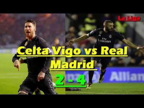 Celta Vigo vs Real Madrid 2 - 4 All Goals & Highlights 11/11/2018   Karim Benzema, Sergio Ramos