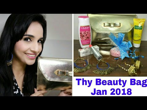 Thy Beauty Bag January 2018   Unboxing & Review   Organic Skincare & Makeup Monthly Subscription