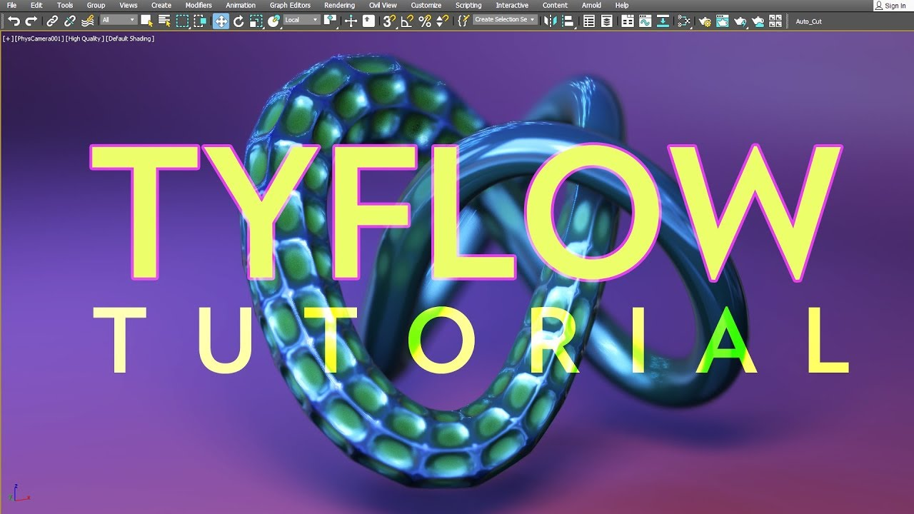 video/creating motion tyflow mofidiers and flex 3ds max tutorial