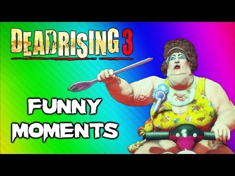 Dead Rising 3 Funny Moments Gameplay 5 – Fat Lady Boss, Huge Bomb, Boxing Match, Best Weapon Ever
