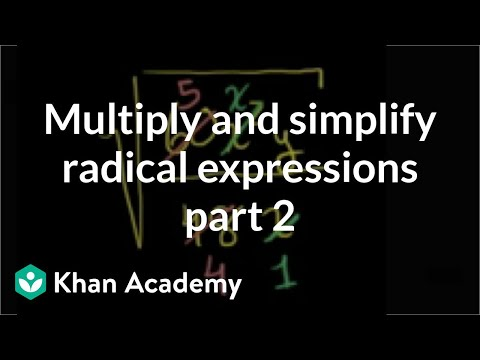 Simplifying radical expressions: two variables | Algebra (video ...