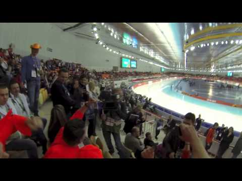 Russia – Sochi. Winter Olympics 1000M Speed Skating fans.