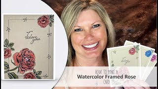 """Card details & Free PDF: http://stampwithtami.com/blog/2017/06/graceful-rose/Facebook Live: http://stampwithtami.com/blog/2017/06/graceful-rose/In today's online card class we'll be creating this gorgeous watercolored Rose """"I Adore You"""" card. I used the new Stampin Up Graceful Garden stamp set, along with Birthday Blooms. Colored with Watercolor Pencils, and highlighted with the White Chalk Marker. I'll show you a quick and easy trick for making this frame. Inspired by Billie Moan.Purchase these supplies in my online store:Graceful Garden Clear-Mount Stamp Set [143849] - Price: $19.00 - http://msb.im/58QBirthday Blooms Clear-Mount Stamp Set [140658] - Price: $19.00 - http://msb.im/58RBasic Black Archival Stampin' Pad [140931] - Price: $7.00 - http://msb.im/58SWhisper White 8-1/2"""" X 11"""" Cardstock [100730] - Price: $9.00 - http://msb.im/58TCrumb Cake 8-1/2"""" X 11"""" Cardstock [120953] - Price: $8.00 - http://msb.im/58UWindow Sheets [142314] - Price: $5.00 - http://msb.im/58VWatercolor Pencils [141709] - Price: $16.00 - http://msb.im/58WBlender Pens [102845] - Price: $12.00 - http://msb.im/58XWhite Stampin' Chalk Marker [132133] - Price: $3.50 - http://msb.im/58YBasic Black Stampin' Write Marker [100082] - Price: $3.50 - http://msb.im/58ZBe sure to join my social media Tami WhiteStampin' Up! Independent Demonstrator✪ STAY CONNECTED ✪Blog: http://www.stampwithtami.com Facebook: http://www.facebook.com/stampwithtami1 Pinterest: http://www.pinterest.com/stampwithtamiPeriscope: https://periscope.tv/stampwithtamiTwitter: http://twitter.com/stampwithtami Weekly Newsletter: http://ow.ly/Vp8eb Bloglovin: https://www.bloglovin.com/blogs/stamp-with-tami-3137650"""