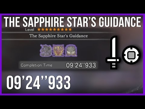 MHW - The Sapphire Star's Guidance SnS Solo [9'24