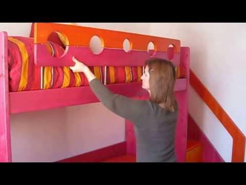 LETTO A CASTELLO COMODO PRATICO E COLORATO-BUNK BED COMFORTABLE CONVENIENT AND COLOURED.BEATIFUL