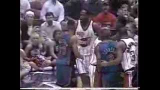 1996 Patrick Ewing and Kevin Willis trash talking
