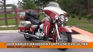 5. Used 2009 Harley Davidson CVO Ultra Classic Motorcycles for sale in Chipley FL