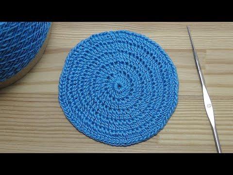Вязание крючком по кругу разными цветами 37
