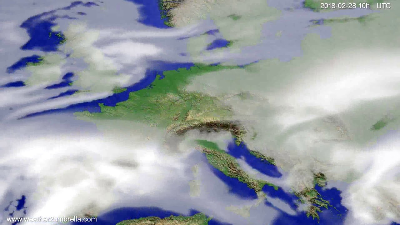 Cloud forecast Europe 2018-02-26